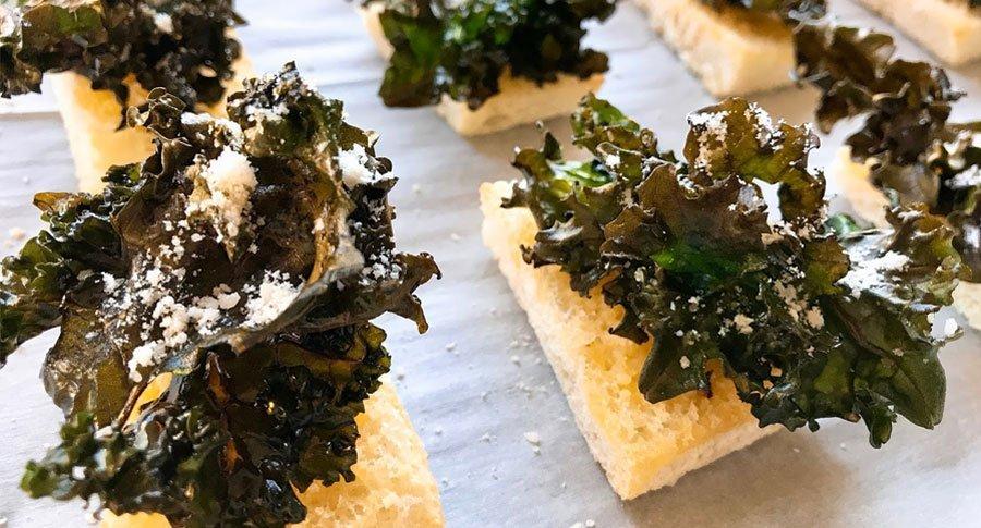 Kale Parmesan Crisps