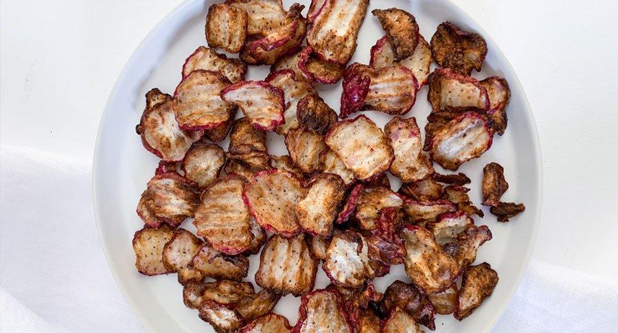 Low Carb Raddish Crisps