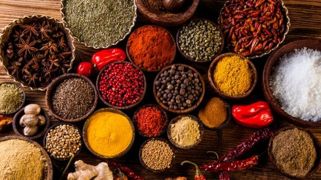 Spices in Indian cooking