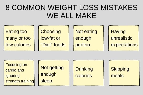 8 mistake for weight loss